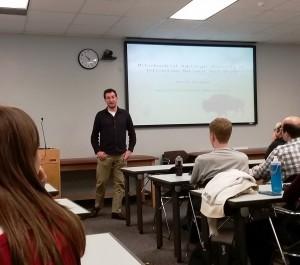 David Forgacs presenting at G2 Seminar Series