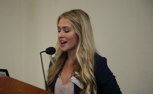Kathy presenting